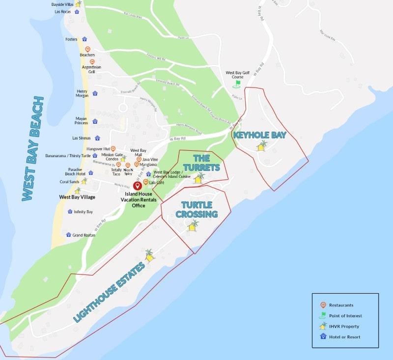 West Bay Beach Map